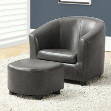 Pamela Kids Club Chair & Ottoman
