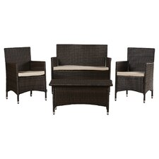 Skylar 4 Piece Deep Seating Group with Cushion