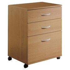 Adriane 3 Drawer Mobile Filing Cabinet