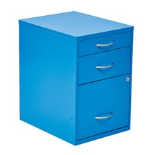 Cassandra 3 Drawer Metal File Cabinet