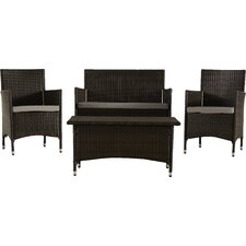 Skylar 4 Piece Deep Seating Group with Cushion
