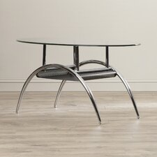 Yvette Glass Oval Coffee Table