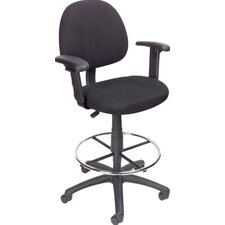 Leah Mid-Back Drafting Chair with Footrest