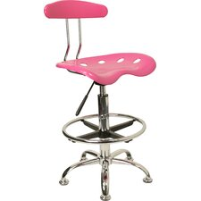 Lila Adjustable Height Drafting Task Chair with Chrome Base