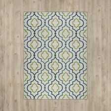 Lucia Ivory/Green/Navy Blue Indoor/Outdoor Area Rug