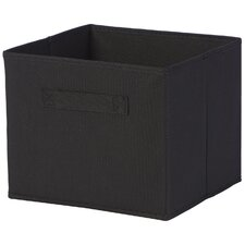Decker Foldable Fabric Storage Baskets in Black (Set of 6)