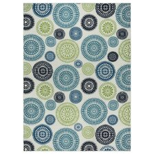 Lucia Ivory/Green/Blue Indoor/Outdoor Area Rug