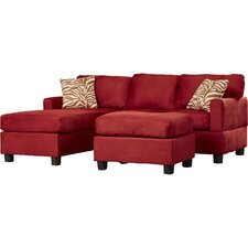 Ashlee Reversible Microfiber Chaise Sectional