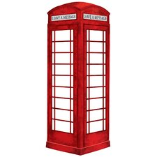 London Phone Booth Giant Wall Decal