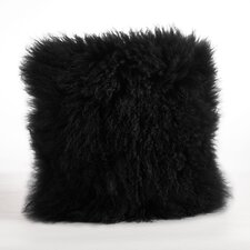 Becky Mongolian Lamb Fur Wool Throw Pillow