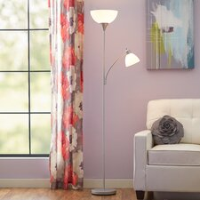 "71.65"" Torchiere Floor Lamp with Reading Light"
