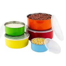 Cynthia 10 Piece Colorful Stainless Steel Mixing Bowl Set