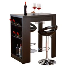Eliza Bar Set with Wine Storage