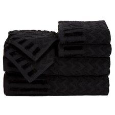 Regina 6 Piece Chevron Towel Set