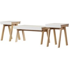 Magdalena 3 Piece Coffee Table Set