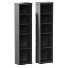 "Elma Multimedia Storage 38"" Bookcase (Set of 2)"