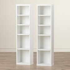 "Elma Multimedia Storage 38"" Bookcase (Set of 2)"