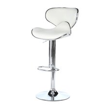 Francine Adjustable Height Swivel Bar Stool with Cushion