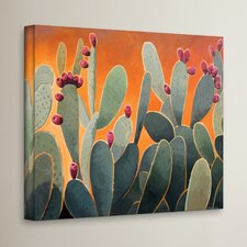 'Cactus Orange' Painting Print on Canvas