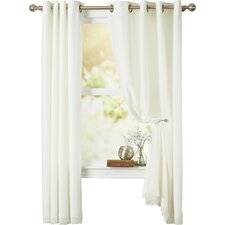 Irene Lined Grommet Single Curtain Panel