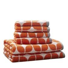 Young Cotton Jacquard 6 Piece Towel Set