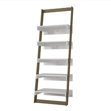 """Erica 69.69"""" Leaning Bookcase"""