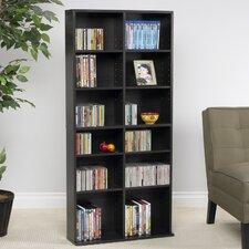 "Jermaine Multimedia 54.13"" Storage Rack Bookcase"