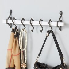 Metal Wall Mount Coat Rack with Hanging Hook