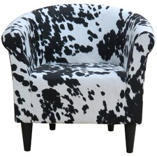 Liam Cowhide Barrel Chair