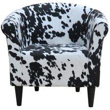 Liam Cowhide Barrel Chair