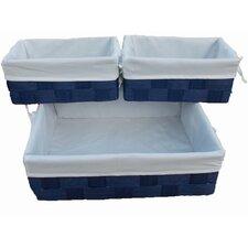 6 Piece Lined Storage Basket Set (Set of 6)