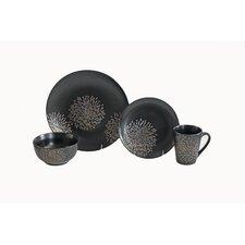 Metallic Floral 16 Piece Dinnerware Set