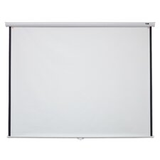 "Manual B Series White 100"" diagonal Manual Projection Screen"