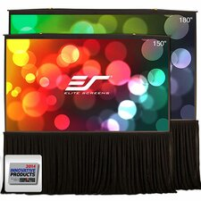 """Quick Stand Series White 163"""" diagonal Portable Projection Screen"""