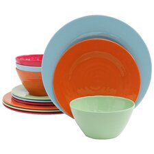 Melamine Brist 12 Piece Dinnerware Set