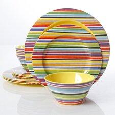 Studio California by Laurie Gates Melamine Color Celebration 12 Piece Dinnerware Set