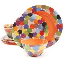 Studio California by Laurie Gates Party Circles Melamine 12 Piece Dinnerware Set