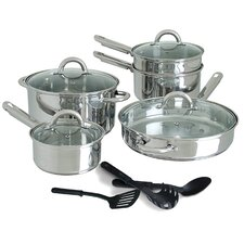 Abruzzo 12 Piece Stainless Steel Cookware Set