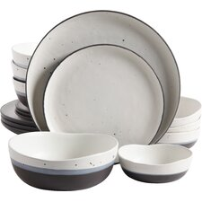 Rhinebeck 16 Piece Double Bowl Dinnerware Set