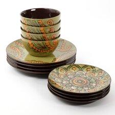 Moroccan Floral 12 Piece Dinnerware Set