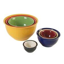 Sensations Ii 8 Piece Stoneware Nesting Bowl Set