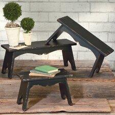 3 Piece Wood Bench Set