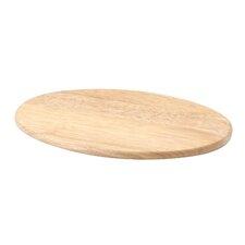 "4-tlg. Schneidebrett oval ""Classic"" aus Gummibaumholz in Natur"