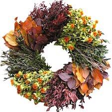 "22"" Autumn Wheel Wreath"