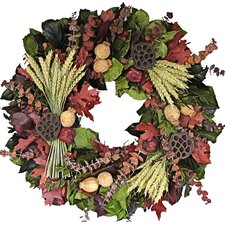 "22"" Fall Wheat Sheaf Wreath"