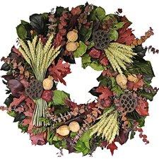 "22"" Fall Wheat Sheaf Wreath"