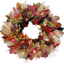"Harvest Apple and Wheat 22"" Wreath"
