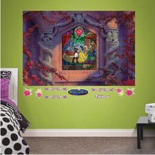 Disney - Beauty and the Beast Stained Glass Peel and Stick Wall Mural