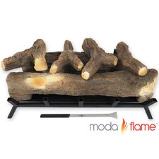 6 Piece Gas Fireplace Log Set