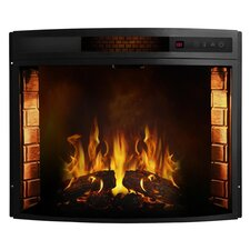 Elwood Curved Electric Fireplace Insert